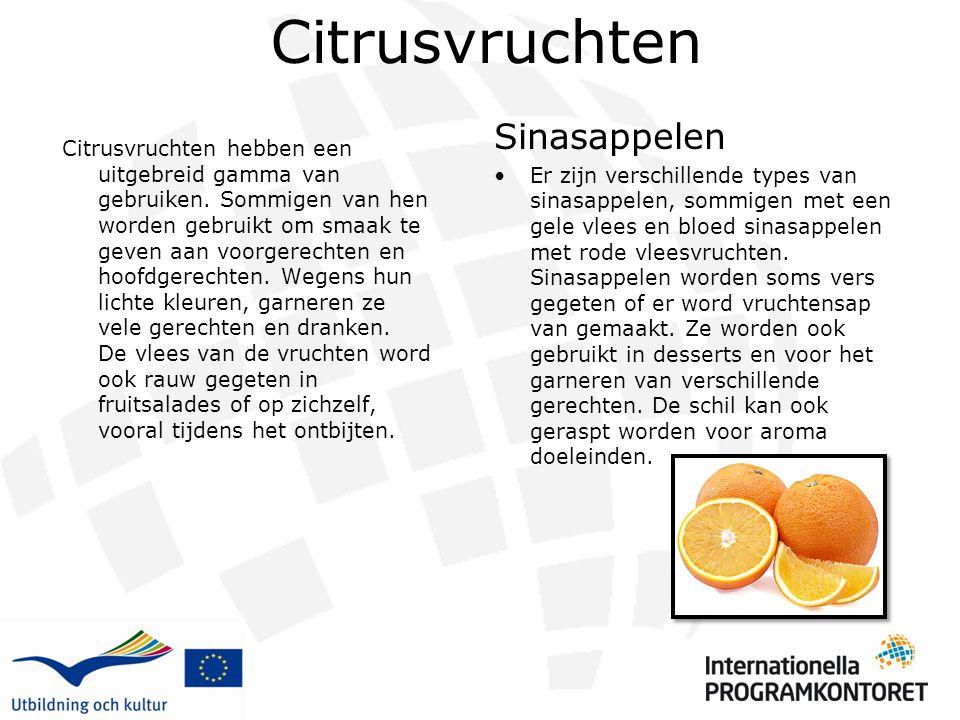 Citrusvruchten Citrusvruchten hebben een uitgebreid gamma van gebruiken. Sommigen van hen worden gebruikt om smaak te geven aan voorgerechten en hoofd