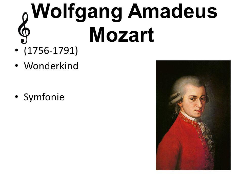 (1756-1791) Wonderkind Symfonie Wolfgang Amadeus Mozart