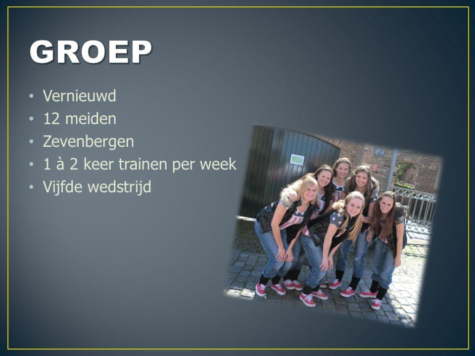 Vernieuwd 12 meiden Zevenbergen 1 à 2 keer trainen per week Vijfde wedstrijd