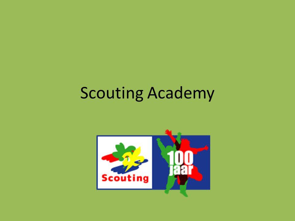 Competenties 29 Persoonsgebonden competenties – Kennis, vaardigheden, houding – Universele benadering – Niet alleen binnen Scouting op te doen