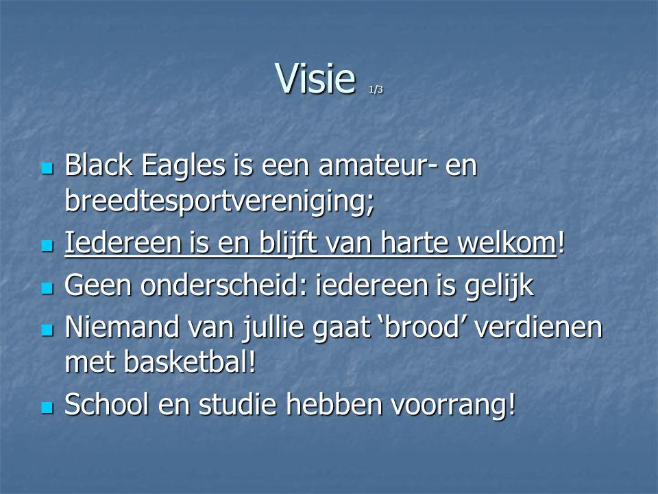 Visie 2/3 Breedtesport betekent wél individuele ambities ondersteunen Breedtesport betekent wél individuele ambities ondersteunen Black Eagles wil talentvolle en gemotiveerde sporters een prestatie- ontwikkeling bieden… Black Eagles wil talentvolle en gemotiveerde sporters een prestatie- ontwikkeling bieden…