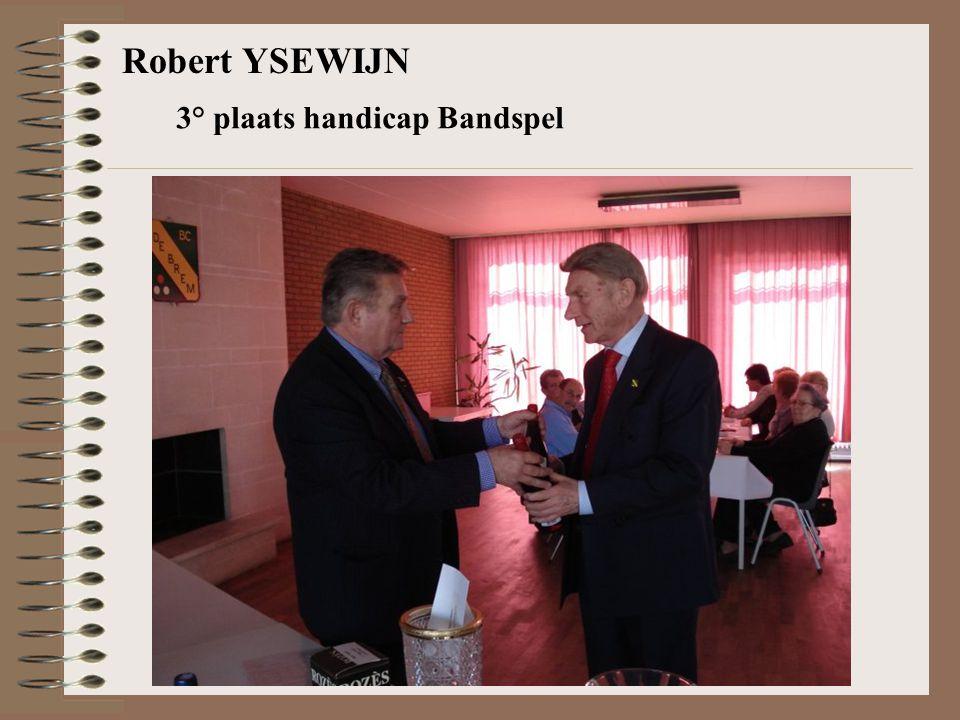 Robert YSEWIJN 3° plaats handicap Bandspel