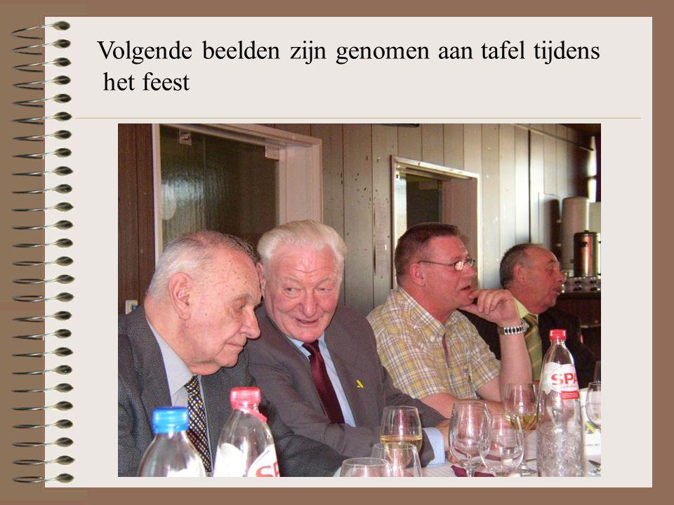 Volgende beelden zijn genomen aan tafel tijdens het feest