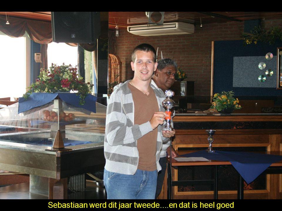 Sebastiaan werd dit jaar tweede....en dat is heel goed