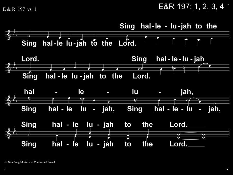 ... E&R 197: 1, 2, 3, 4