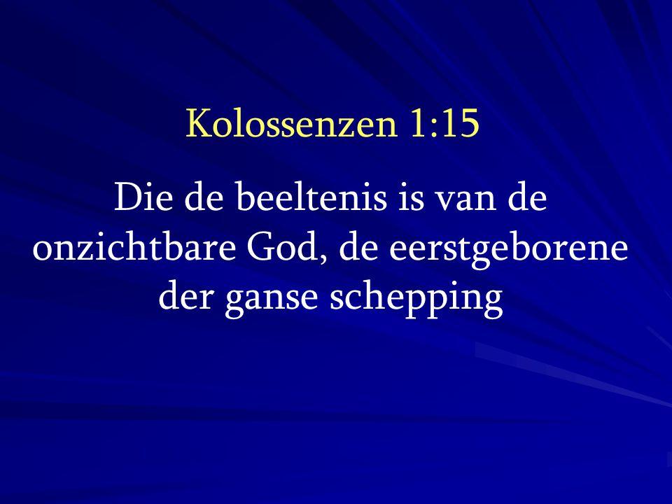 Kolossenzen 1:17 en Hij is vóór alles en alle dingen hebben hun bestaan in Hem;