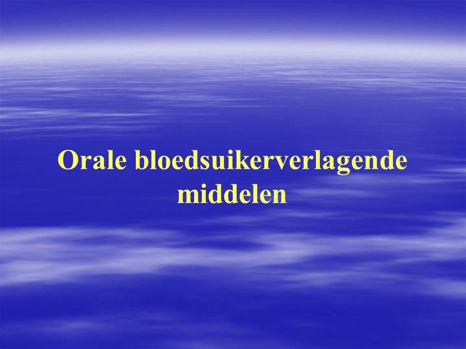 Orale bloedsuikerverlagende middelen