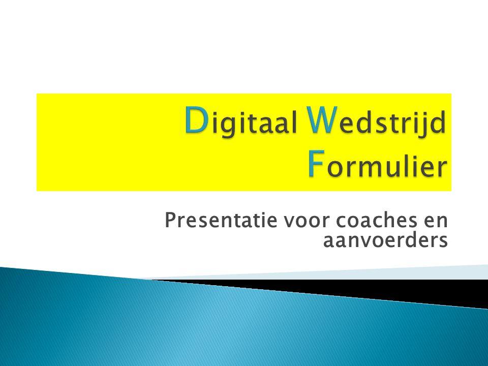 Presentatie voor coaches en aanvoerders