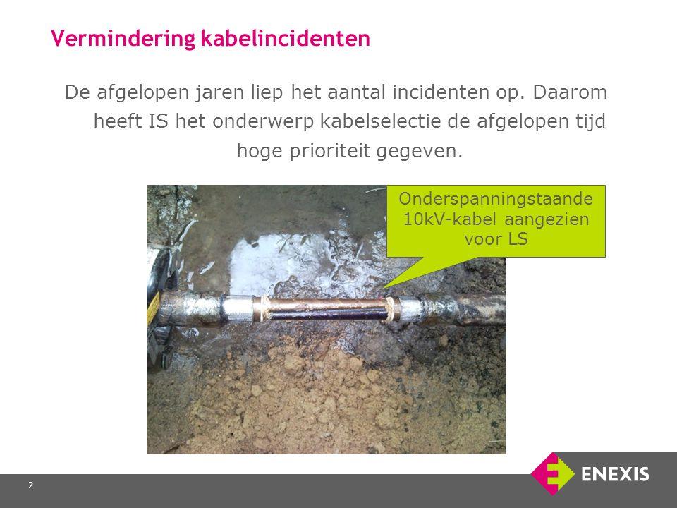 3 Vermindering kabelincidenten Om op een veilige manier spanningsloos te werken of aan de juiste spanningsvoerende LS-kabel is het van groot belang dat de juiste kabel wordt geselecteerd.