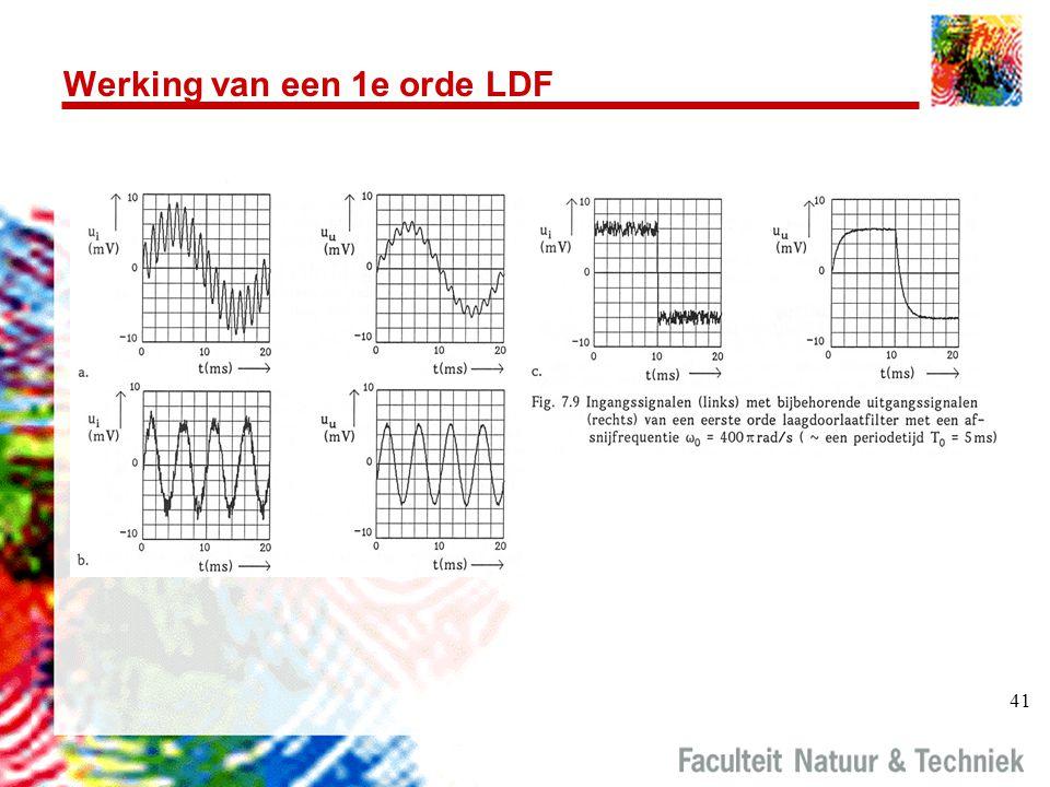 41 Werking van een 1e orde LDF