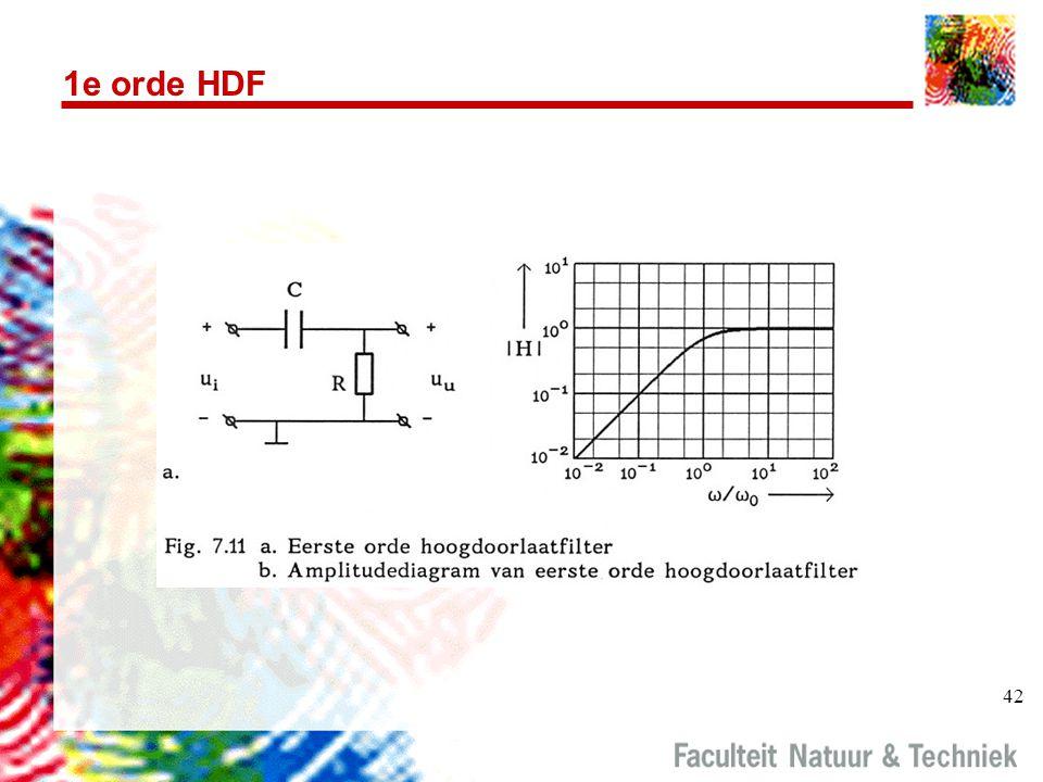 42 1e orde HDF