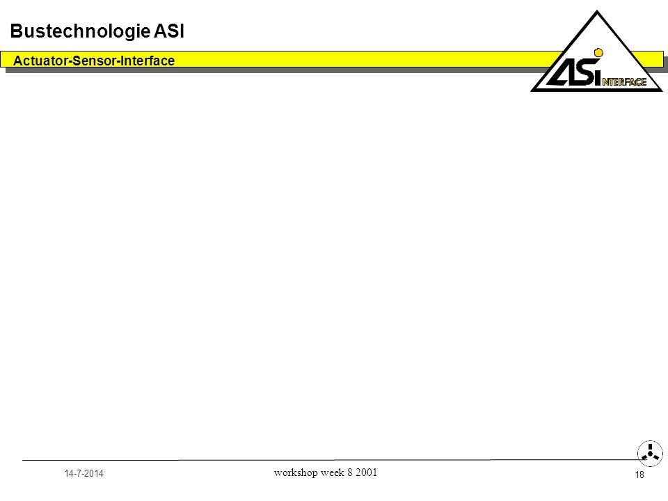 14-7-2014 Actuator-Sensor-Interface 18 Bustechnologie ASI workshop week 8 2001