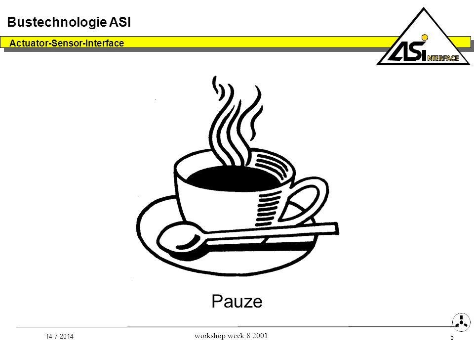 14-7-2014 Actuator-Sensor-Interface 5 Bustechnologie ASI workshop week 8 2001 Pauze