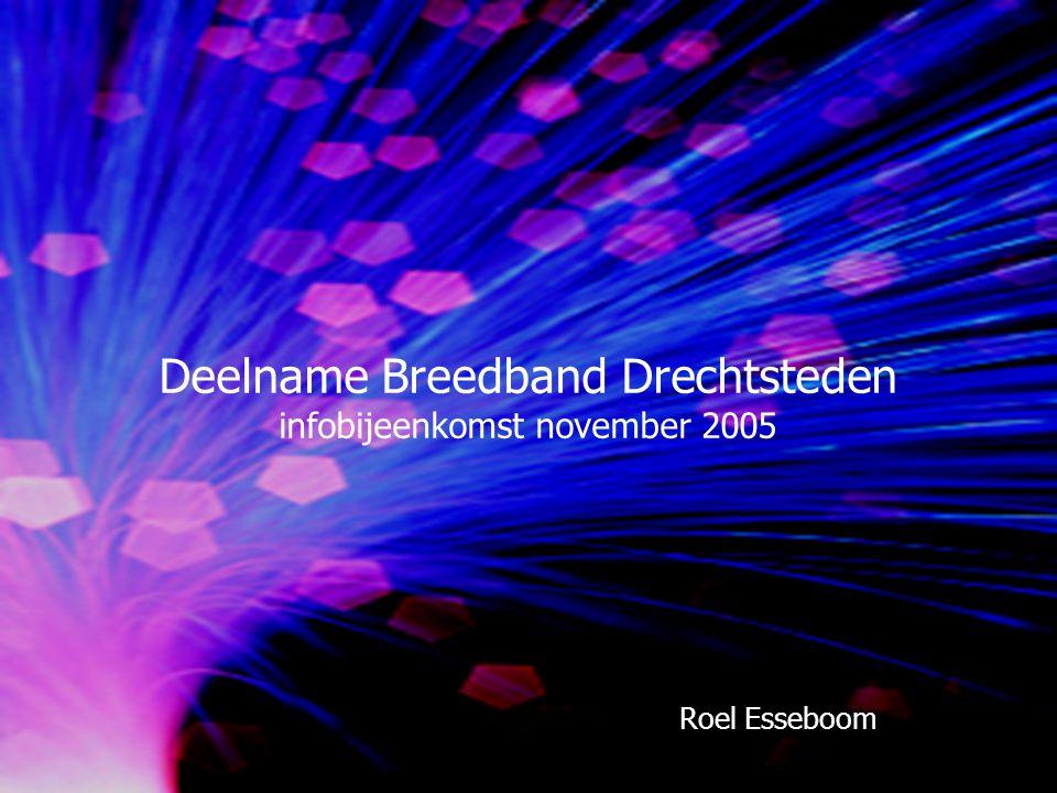 Deelname Breedband Drechtsteden infobijeenkomst november 2005 Roel Esseboom