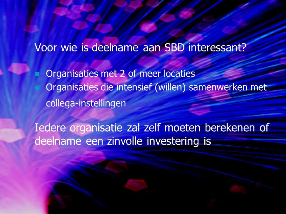 Voor wie is deelname aan SBD interessant.