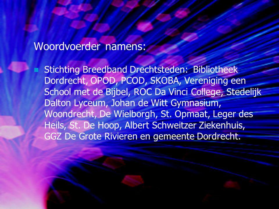 Principe van het breedbandnetwerk Dordrecht