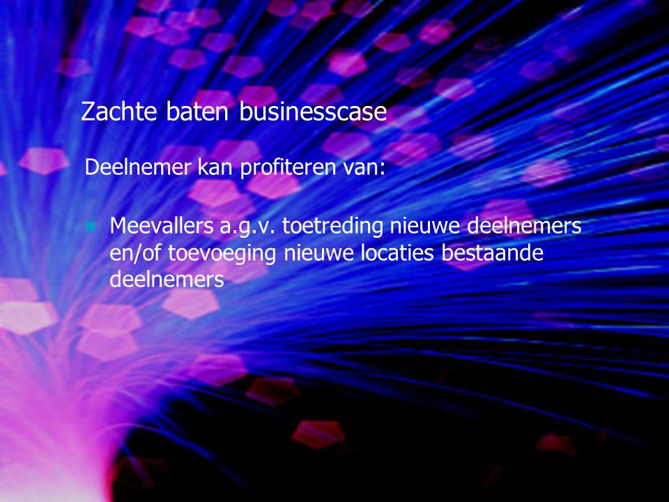 Zachte baten businesscase Deelnemer kan profiteren van: Meevallers a.g.v.