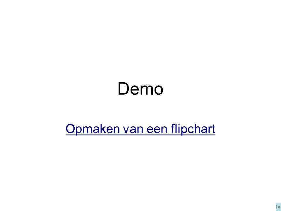 Demo Opmaken van een flipchart