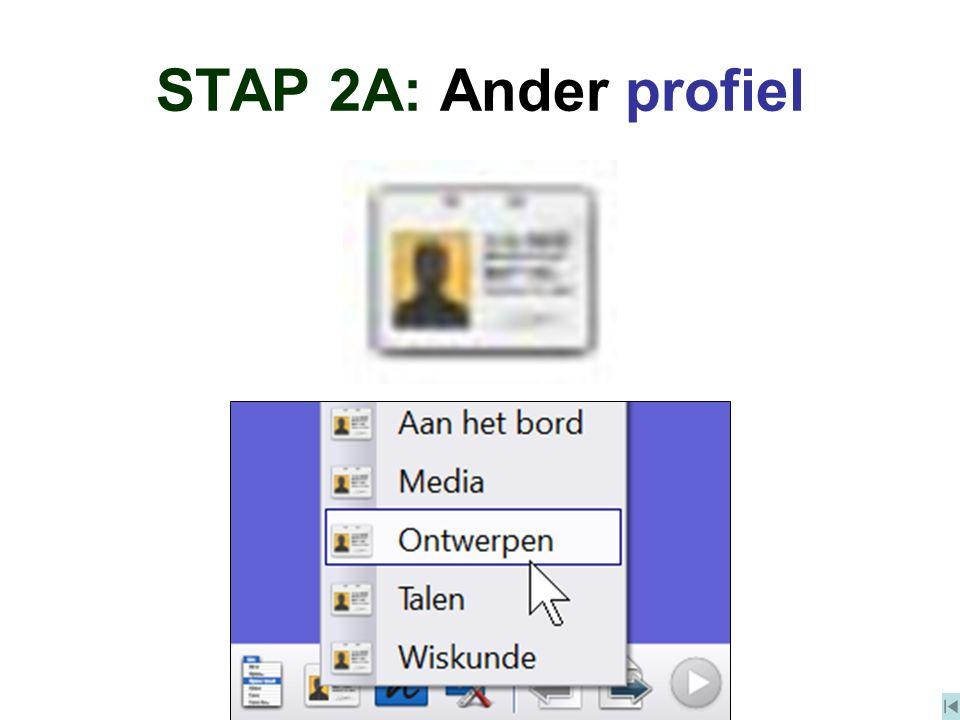 STAP 2A: Ander profiel