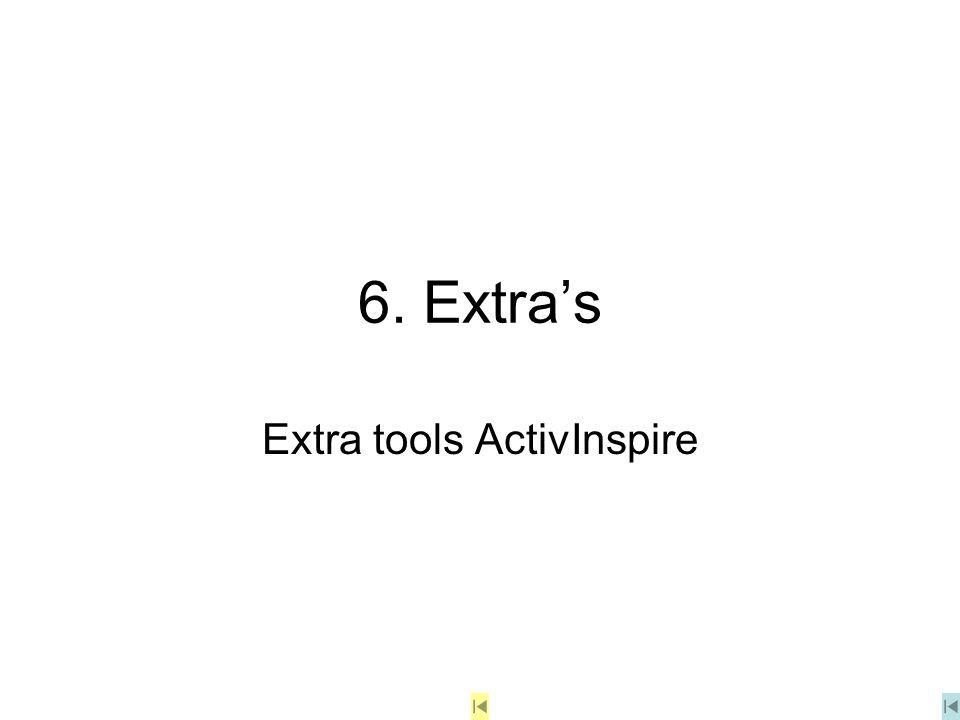 6. Extra's Extra tools ActivInspire