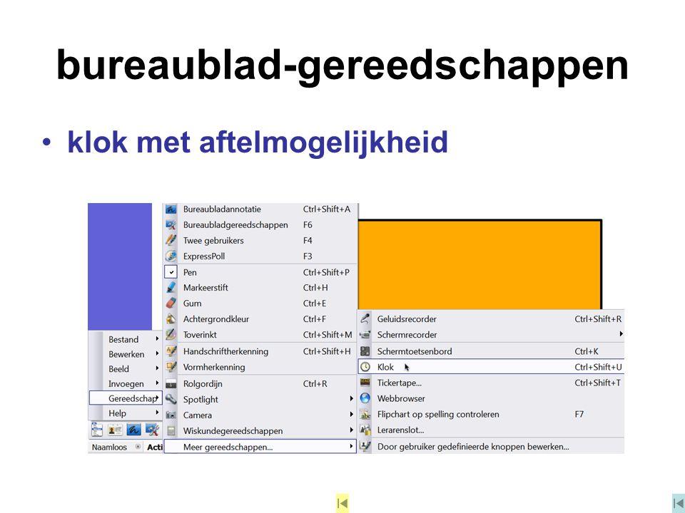 bureaublad-gereedschappen klok met aftelmogelijkheid