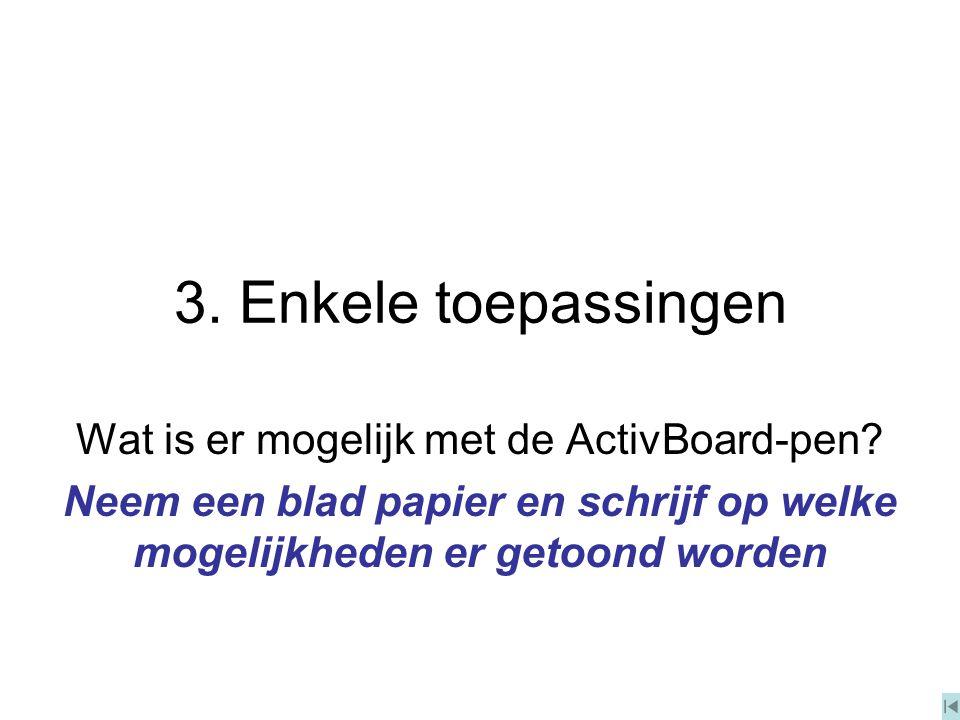 Toepassingen (1) Presentatie: PPT (met hyperlinks en schrijfmogelijkheid rechtermuisknop) PDF (met scroll en zoom) evt.