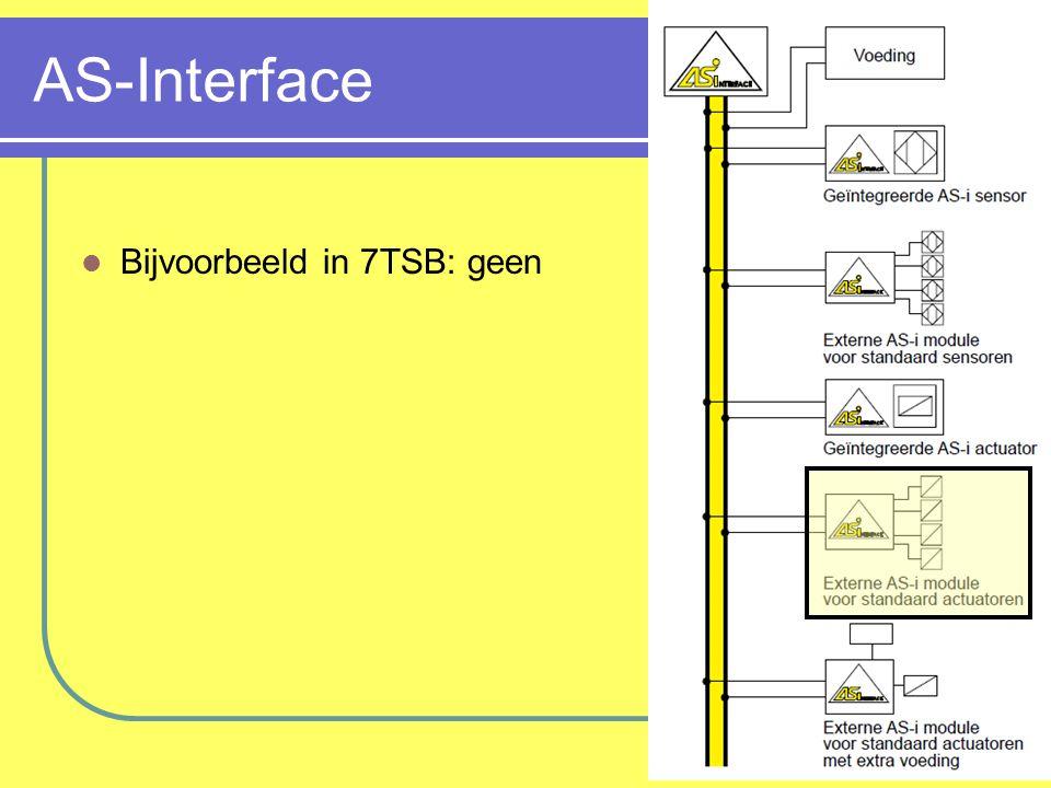 AS-Interface Bijvoorbeeld in 7TSB: geen