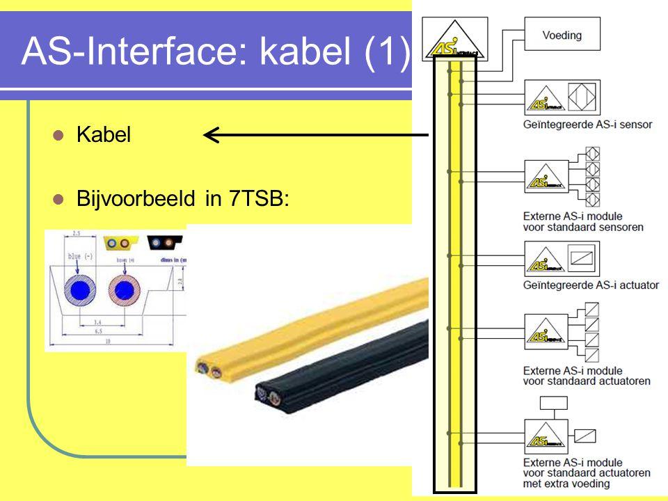 AS-Interface: kabel (2) AS-Interface electromechanisch slaaf behuizing piercing connectoren