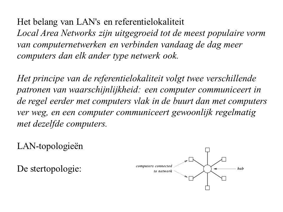 Het belang van LAN's en referentielokaliteit Local Area Networks zijn uitgegroeid tot de meest populaire vorm van computernetwerken en verbinden vanda