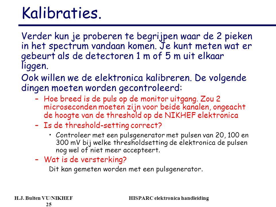 H.J.Bulten VU/NIKHEF HISPARC elektronica handleiding 25 Kalibraties.