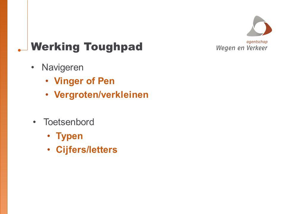 Werking Toughpad Navigeren Vinger of Pen Vergroten/verkleinen Toetsenbord Typen Cijfers/letters