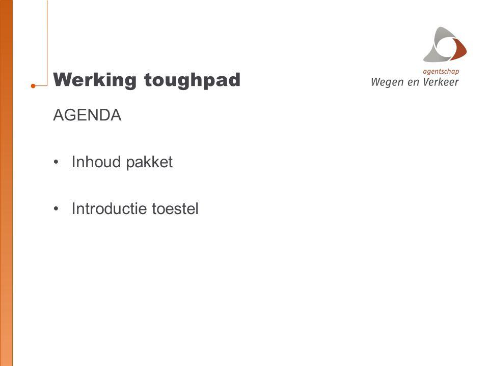 AGENDA Inhoud pakket Introductie toestel