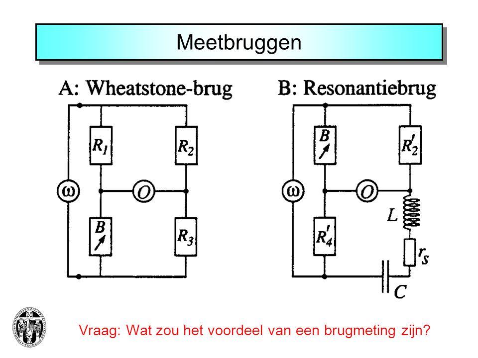 Meetbruggen Vraag: Wat zou het voordeel van een brugmeting zijn?