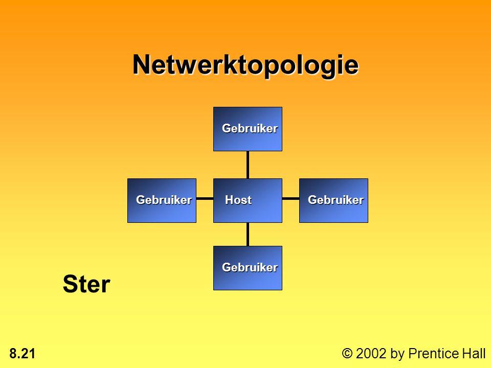 8.20 © 2002 by Prentice Hall Communicatieprocessors Front-endprocessor: minicomputer die de communicatie voor de hostcomputer verzorgtFront-endprocess