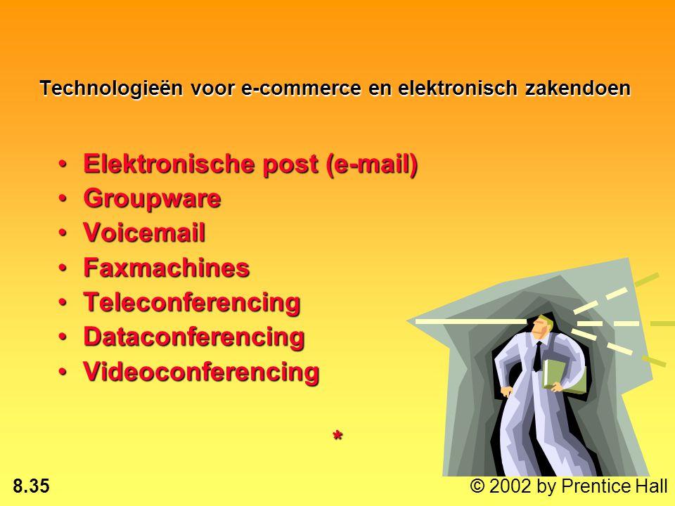 8.34 © 2002 by Prentice Hall Andere diensten : Breedband: snelle overdracht, meer kanalenBreedband: snelle overdracht, meer kanalen Netwerkconvergenti