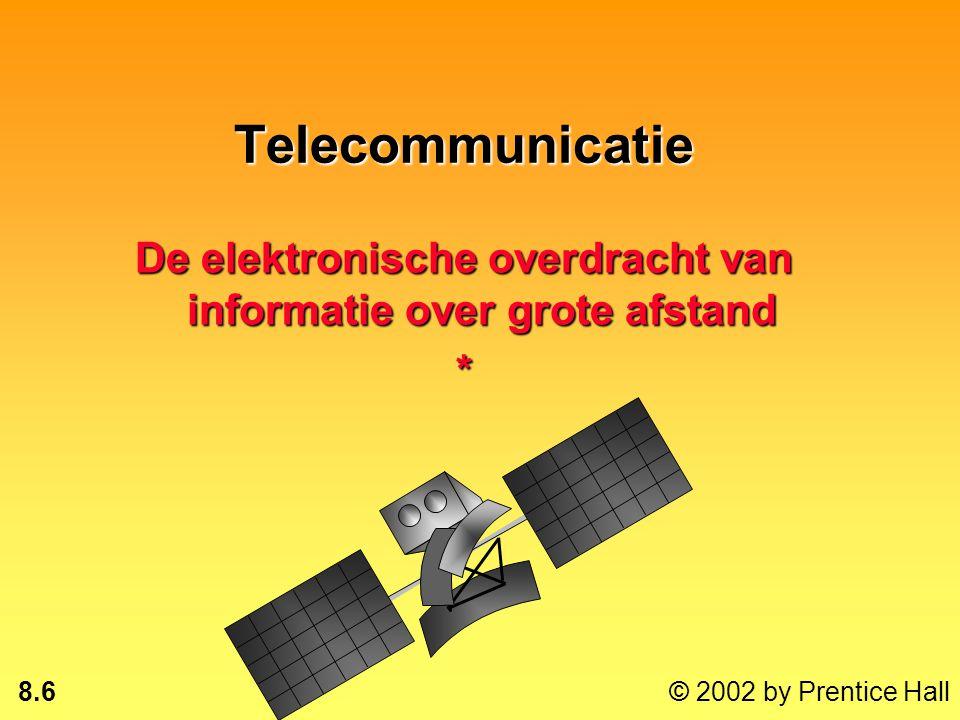 8.5 © 2002 by Prentice Hall Managementuitdagingen 1. Het beheer van LAN's: moeten zorgvuldig worden beheerd, gecontroleerd, kwets- baar tegen storinge