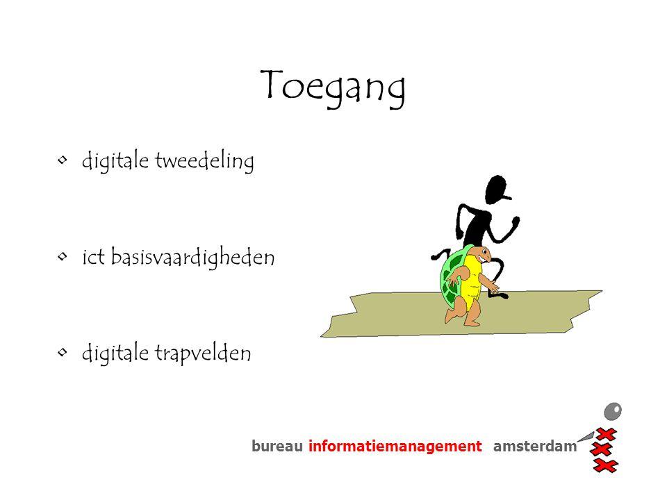 bureau informatiemanagement amsterdam Toegang digitale tweedeling ict basisvaardigheden digitale trapvelden