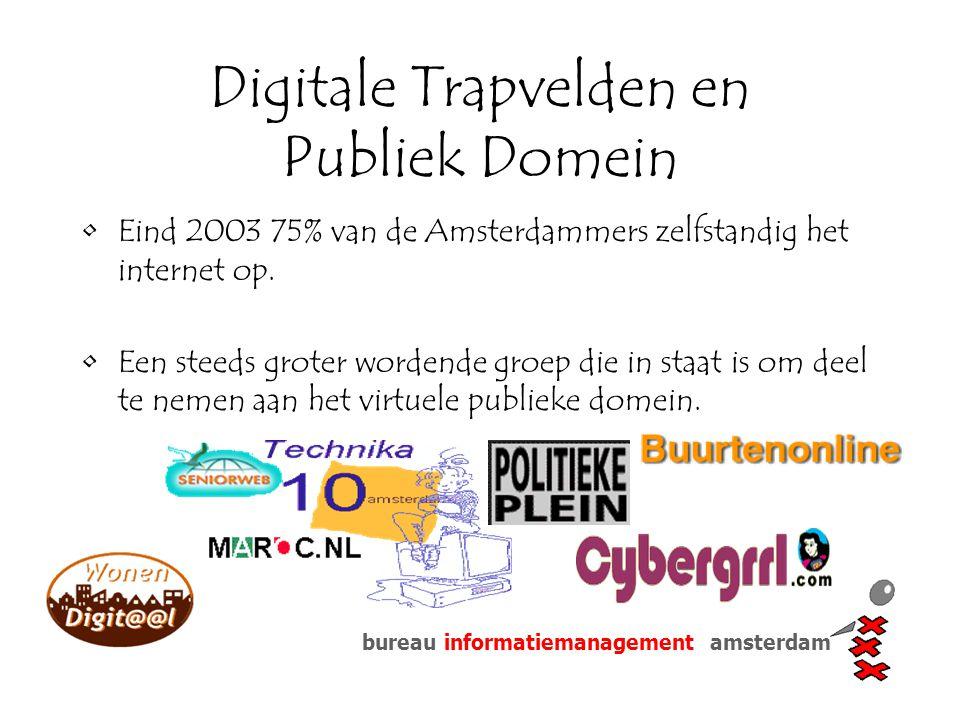 bureau informatiemanagement amsterdam Digitale Trapvelden en Publiek Domein Eind 2003 75% van de Amsterdammers zelfstandig het internet op. Een steeds