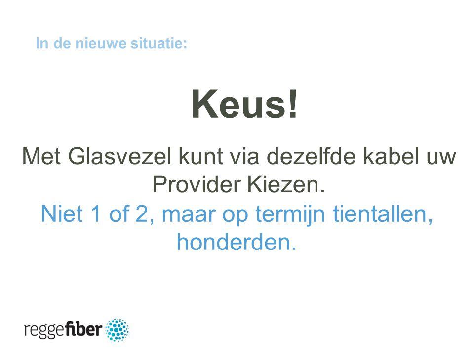 11 | 23 In de nieuwe situatie: Met Glasvezel kunt via dezelfde kabel uw Provider Kiezen.