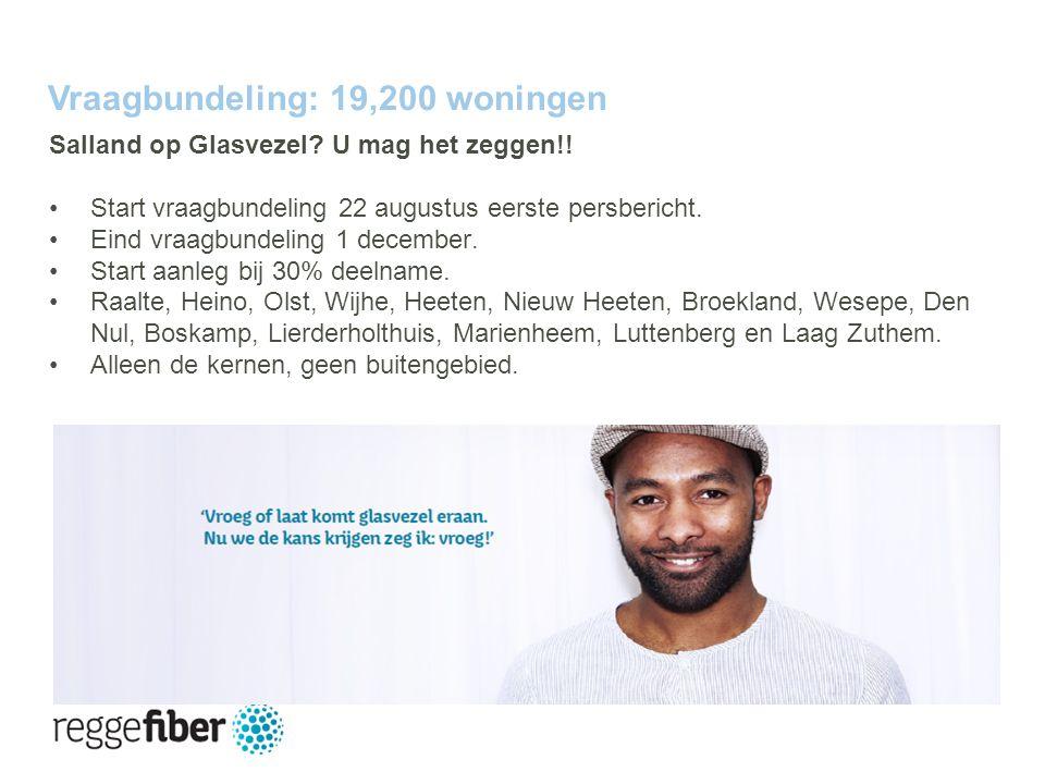 26 | 23 Vraagbundeling: 19,200 woningen Salland op Glasvezel.