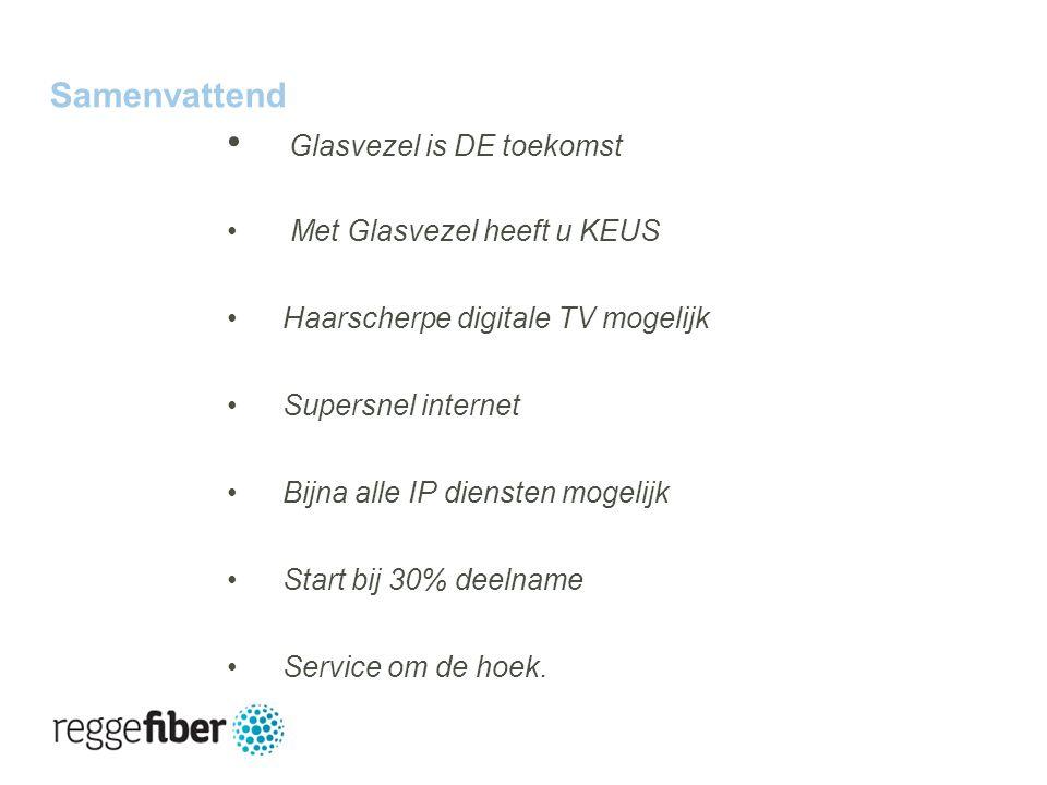 27 | 23 Samenvattend Glasvezel is DE toekomst Met Glasvezel heeft u KEUS Haarscherpe digitale TV mogelijk Supersnel internet Bijna alle IP diensten mogelijk Start bij 30% deelname Service om de hoek.