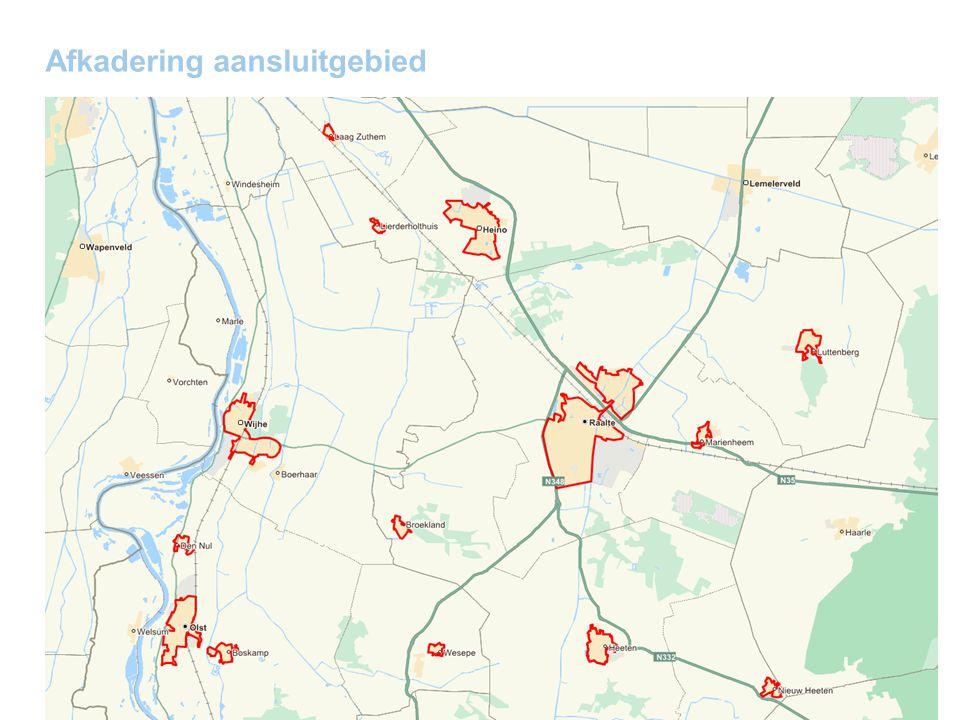 7 | 23 Informatie gemeente per woonkern: Huishoudens en oppervlakte aansluitgebied Willard Baan