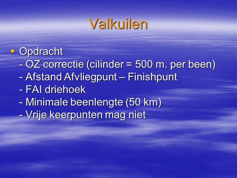 Valkuilen  Opdracht - OZ correctie (cilinder = 500 m.
