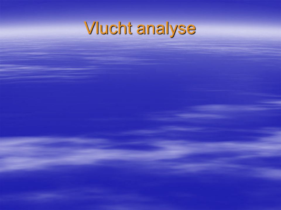 Vlucht analyse