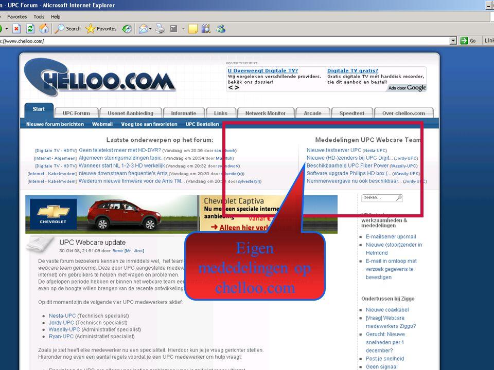 24 Eigen mededelingen op chelloo.com