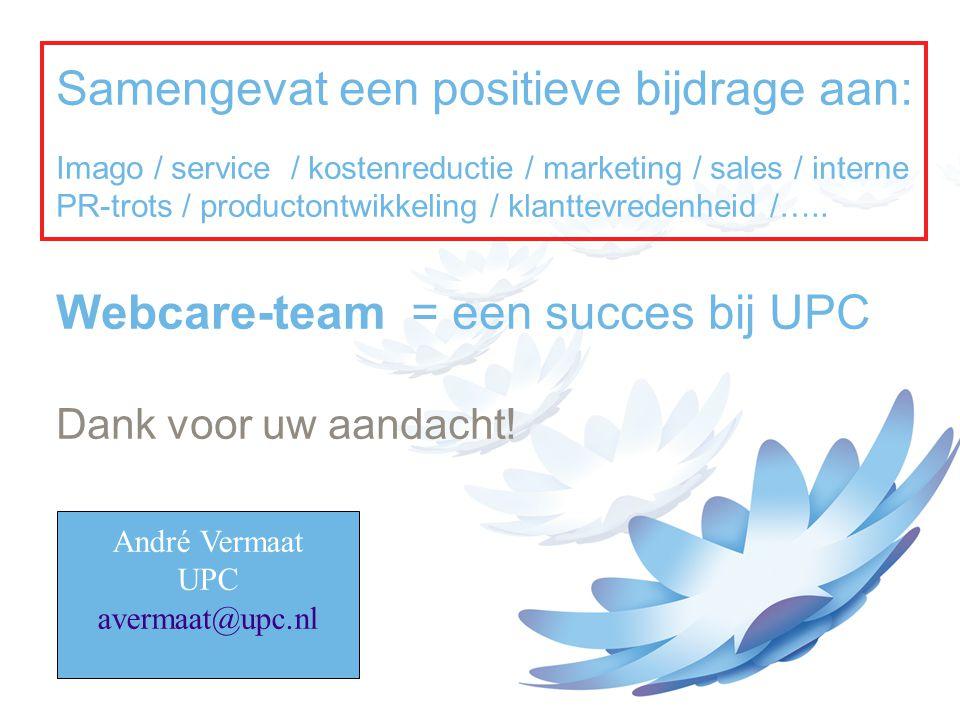 Samengevat een positieve bijdrage aan: Imago / service / kostenreductie / marketing / sales / interne PR-trots / productontwikkeling / klanttevredenheid /…..