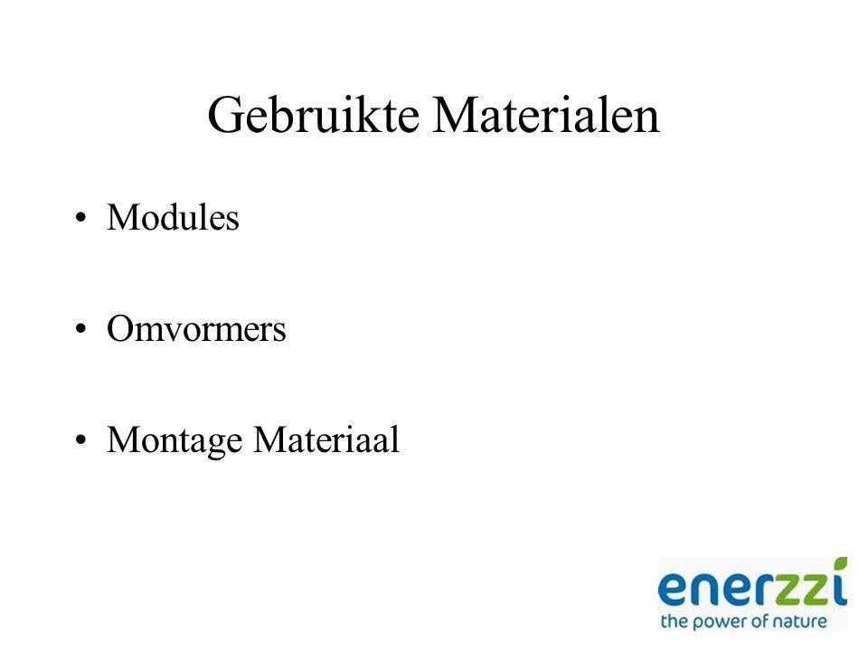 Gebruikte Materialen Modules Omvormers Montage Materiaal