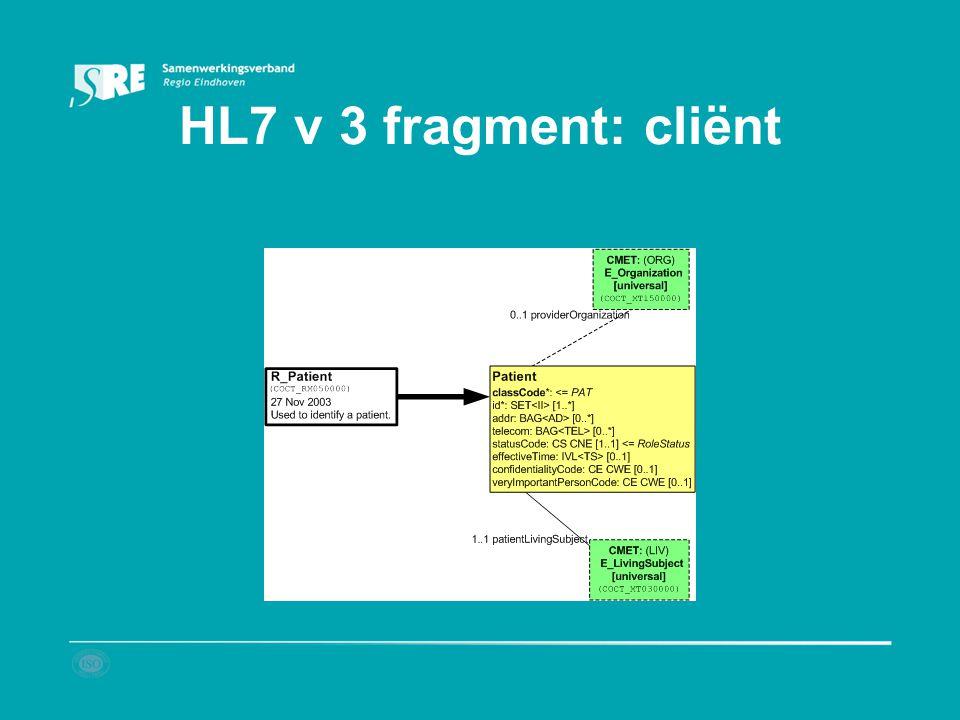 HL7 v 3 fragment: cliënt