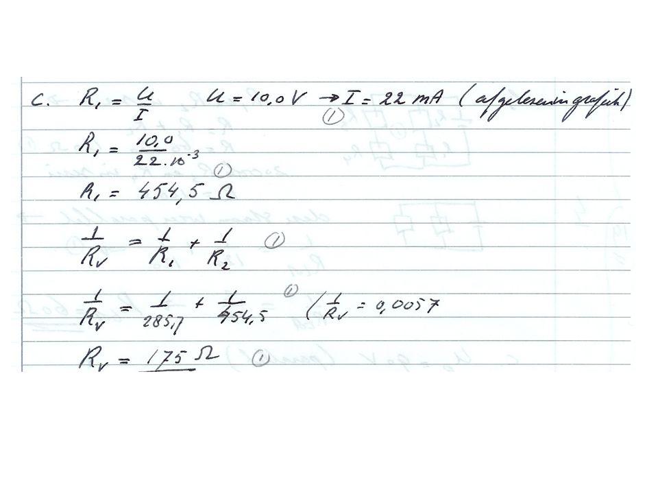 Vier weerstanden van 60  worden aan elkaar gemonteerd volgens bovenstaand schema.