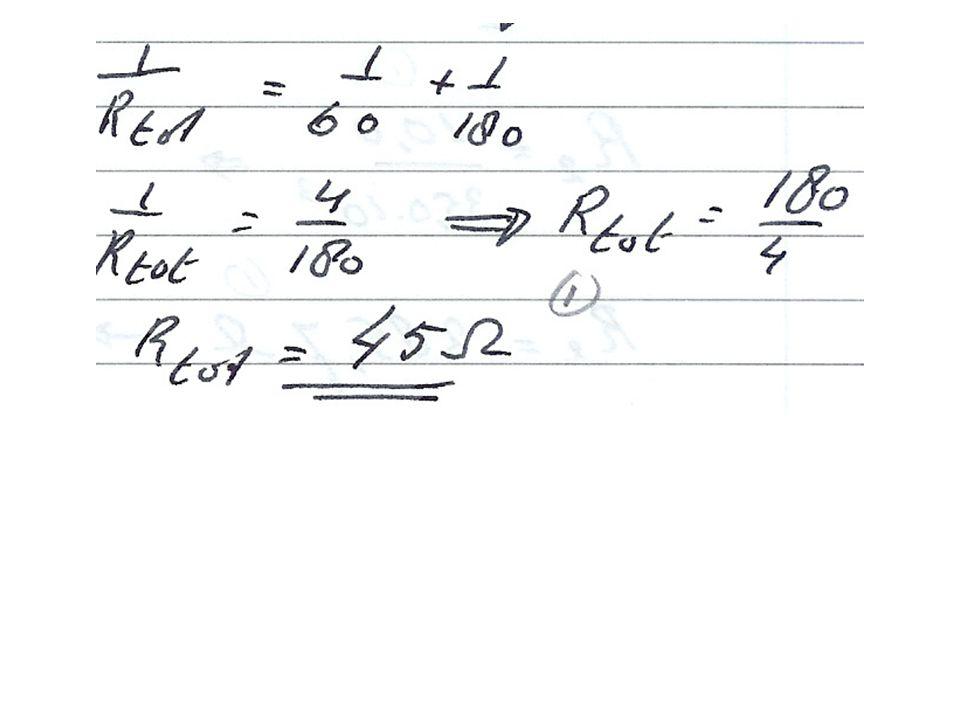 b.Bereken de vervangingsweerstand als de punten A en C worden aangesloten op de voeding.